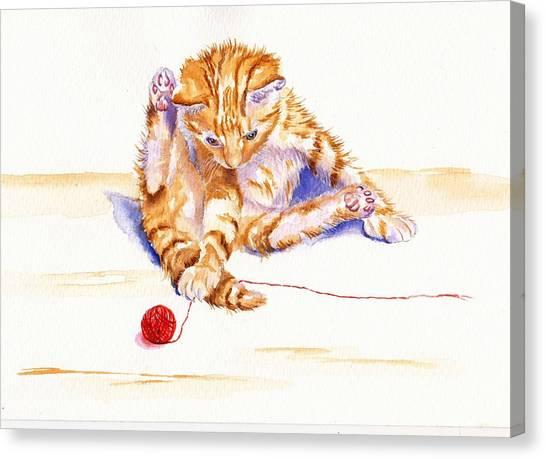 Kitten Interrupted Canvas Print