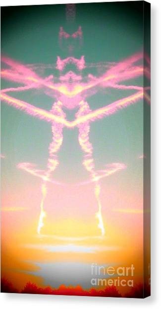 Kitty Cat Contrail Ballerina Canvas Print