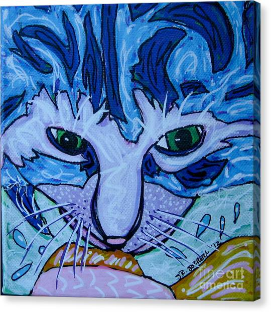 Kitty Canvas Print by Susan Sorrell