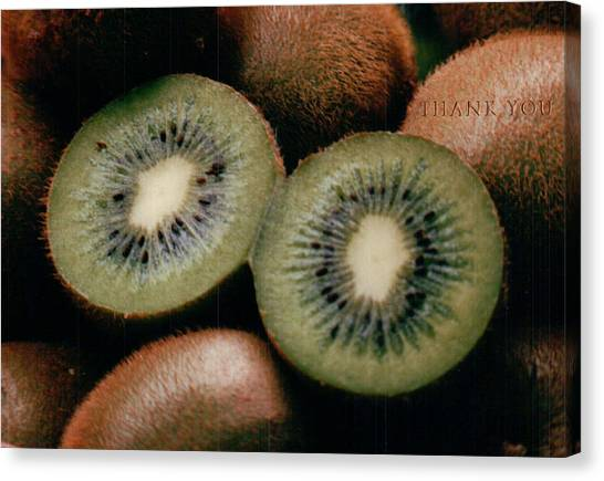 Kiwis Canvas Print - Kiwi Eyes And A Reminder To Utter The Words Thank You. by Raenell Ochampaugh