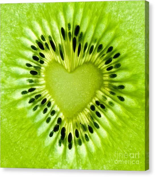 Kiwis Canvas Print - Kiwi Heart by Delphimages Photo Creations
