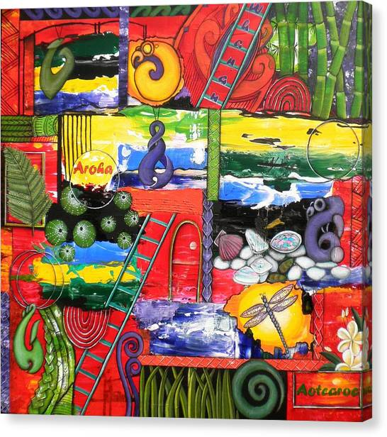 Kiwis Canvas Print - Aotearoa by Astrid Rosemergy