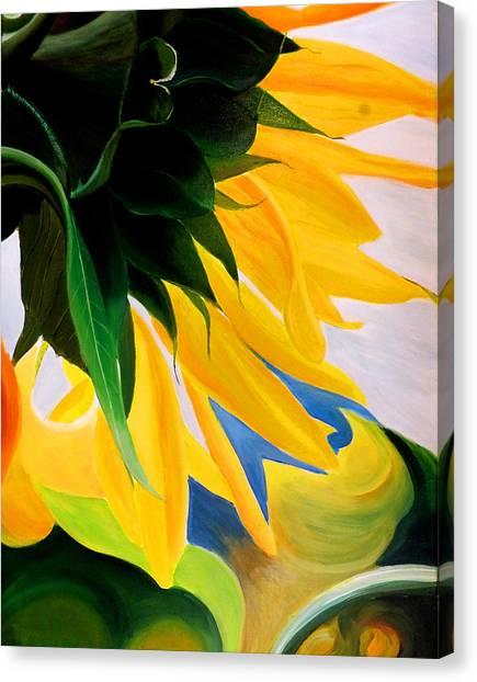 Kk's Sunflower Canvas Print