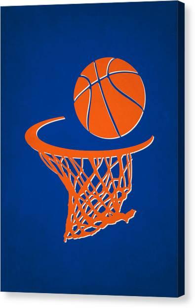 New York Knicks Canvas Print - Knicks Team Hoop2 by Joe Hamilton