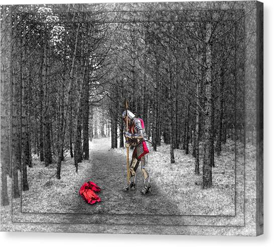 Knight And The Maiden Canvas Print