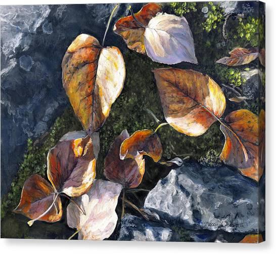 Knik River Autumn Leaves Canvas Print