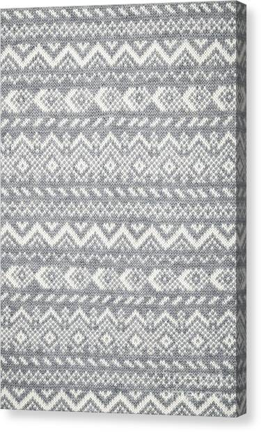 Pattern Canvas Print - Knit Pattern Abstract by Elena Elisseeva