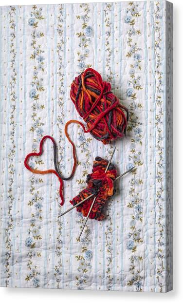 Plaid Canvas Print - Knitted With Love by Joana Kruse