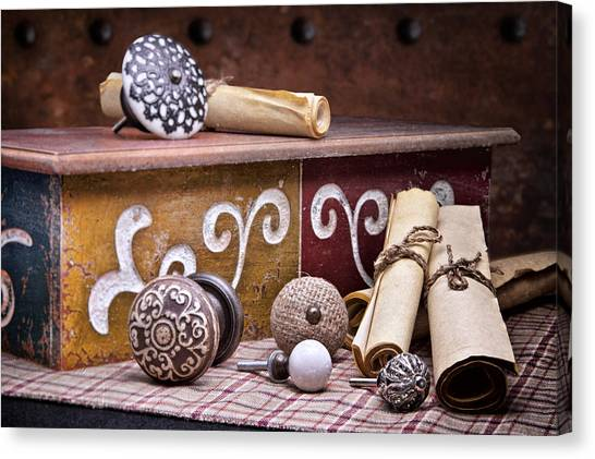 Drawers Canvas Print - Knobs And Such Still Life by Tom Mc Nemar