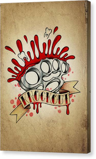 Tattoo Canvas Print - Knockout by Samuel Whitton