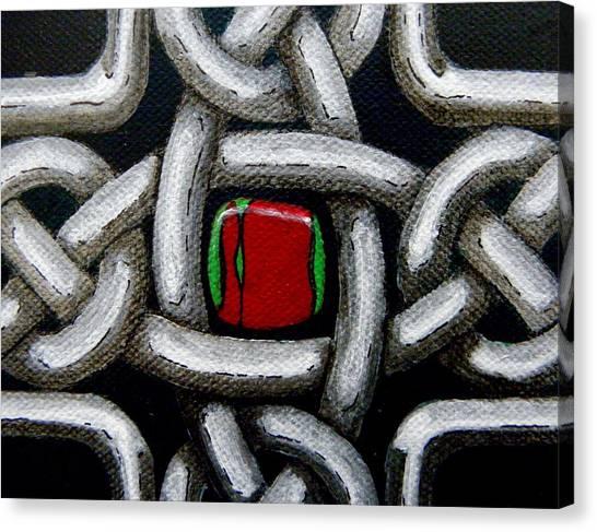 Knotwork With Gem Canvas Print