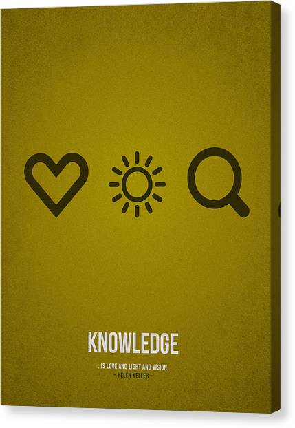Celebration Canvas Print - Knowledge by Aged Pixel