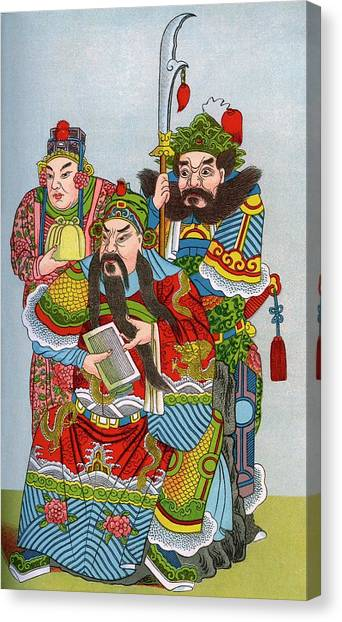 God Of War Canvas Print - Koan-kong by Sheila Terry