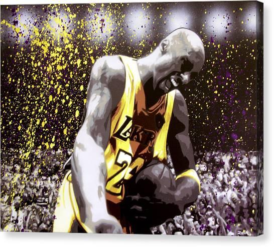 La Lakers Canvas Print - Kobe by Bobby Zeik