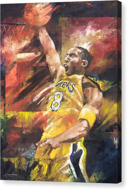 Basketball Abstract Canvas Print - Kobe Bryant  by Christiaan Bekker