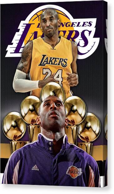 La Lakers Canvas Print - Kobe Bryant Poster Phone Cover by Nicholas Legault