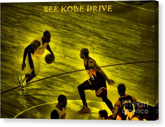 Western Conference Canvas Print - Kobe Lakers by RJ Aguilar