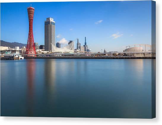 Kobe Port Island Tower Canvas Print