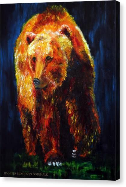 Kobuk's Domain Contemporary Bear Painting Canvas Print