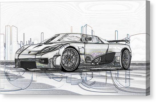 Koenigsegg Ccx Sketch  Canvas Print