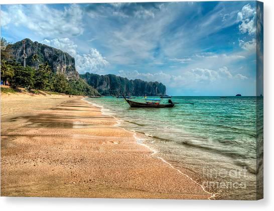 Tsunamis Canvas Print - Koh Lanta Beach by Adrian Evans