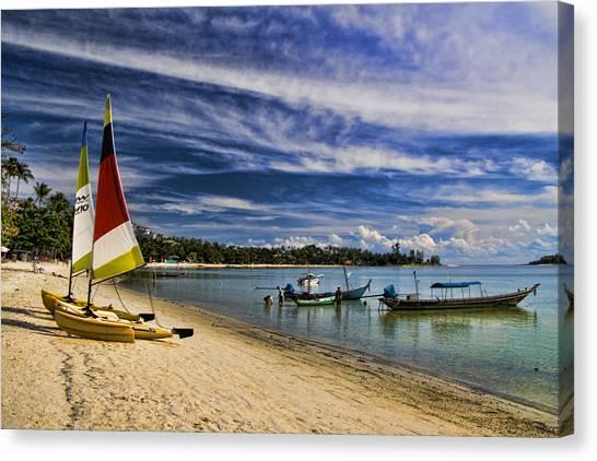Beach Resort Vacation Canvas Print - Koh Samui Beach by David Smith