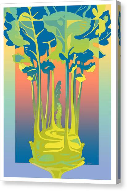 Kohlrabi Gradient Canvas Print