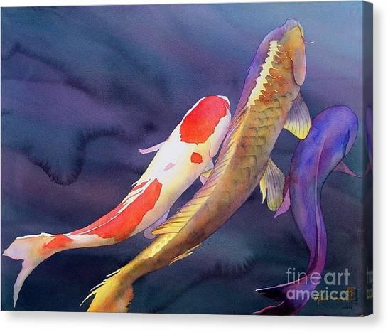 Koi Canvas Print - Koi Dance by Robert Hooper