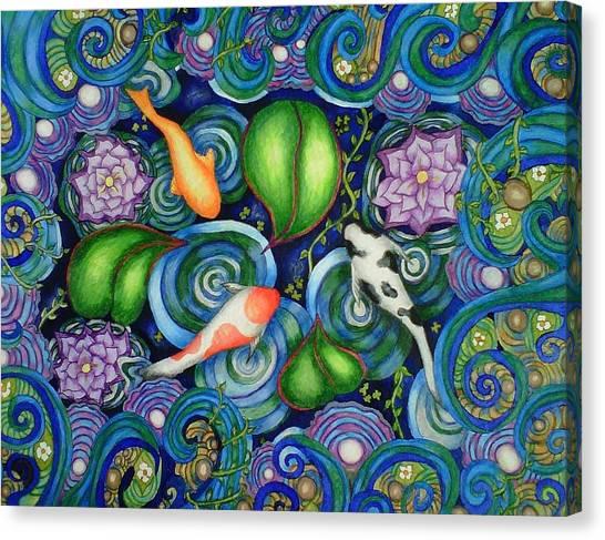 Koi Pond Canvas Print - Koi Fantasy by C  Autumn Trapp