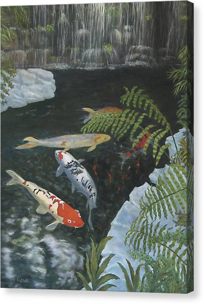 Koi Fish Canvas Print