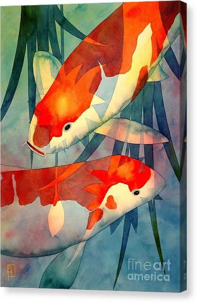 Koi Canvas Print - Koi Love by Robert Hooper