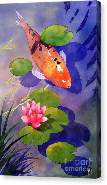 Fish Canvas Print - Koi Pond by Robert Hooper