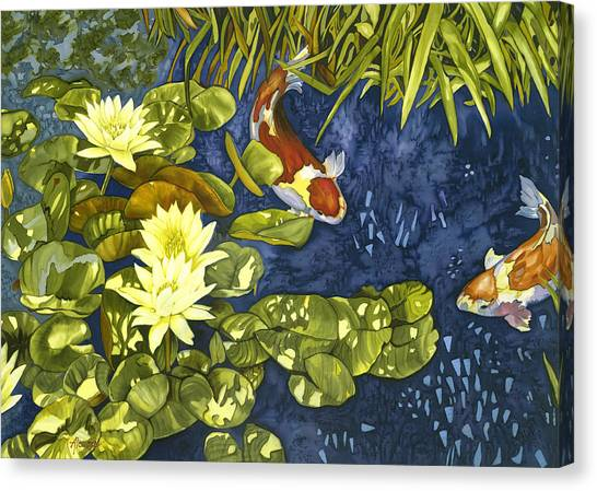 Koi Rendevous Canvas Print