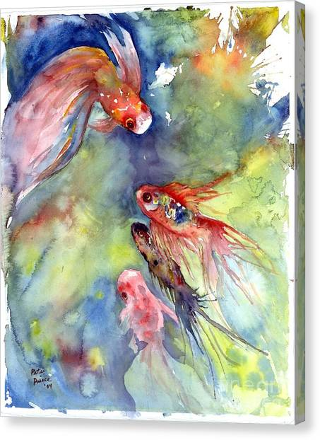 Koi Rendevous Canvas Print