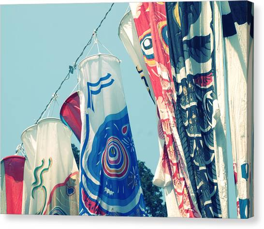 Koinobori Flags Canvas Print