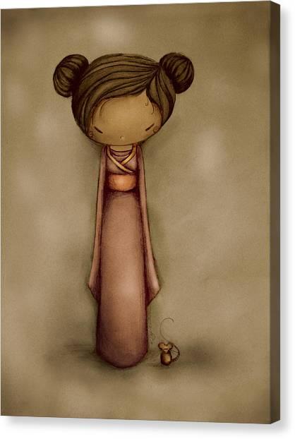 Baby Taylors Canvas Print - Kokeshi by Karin Taylor