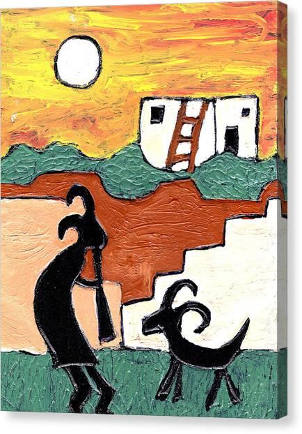 kokopeli at the Pueblo Canvas Print