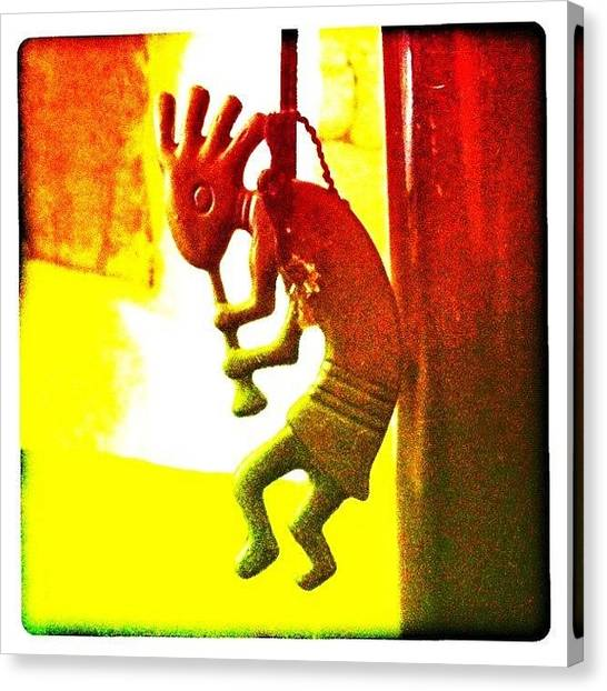 Flutes Canvas Print - Kokopelli by Artondra Hall