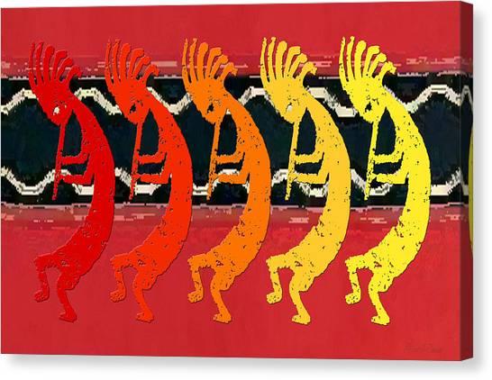 Kokopelli Quintet 4 Canvas Print