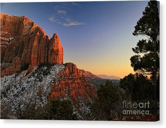 Kolob Sunset Canvas Print