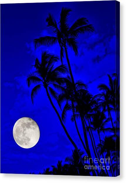 Kona Moon Rising Canvas Print