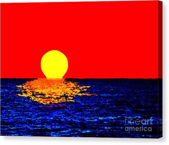 Kona Sunset Pop Art Canvas Print
