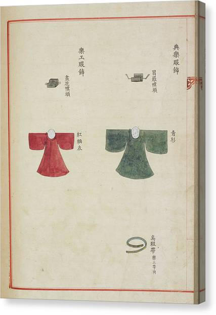 Presentations Canvas Print - Korean Court Dress by British Library