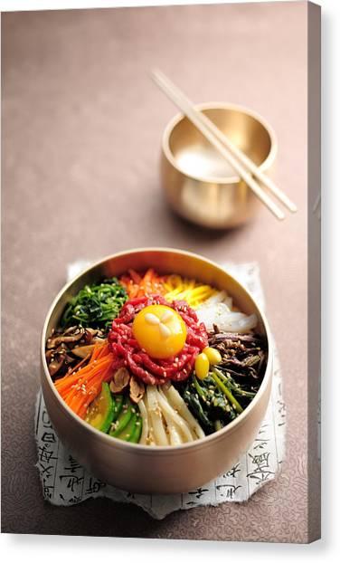 Korean Dish, Bibimbop Canvas Print