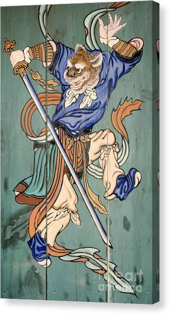 Korean Temple Decoration Figure - Korean Tiger Canvas Print