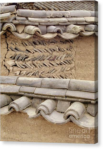Korean Village Photograph - Mud Wall Canvas Print