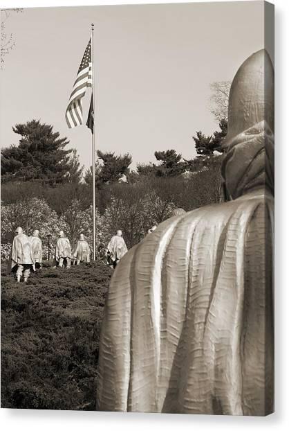 Korean Canvas Print - Korean War Memorial  2 - Washington D.c. by Mike McGlothlen
