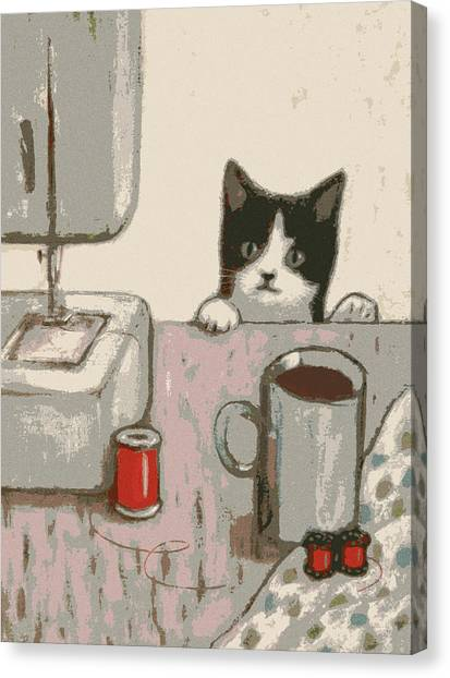 Crafty Cat #2 Canvas Print