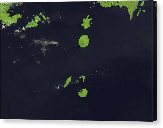 Krakatoa Canvas Print - Krakatau by Us Geological Survey