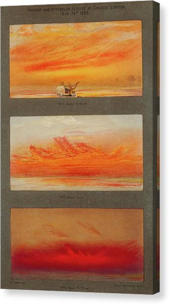 Krakatoa Canvas Print - Krakatoa Sunsets by Royal Astronomical Society/science Photo Library